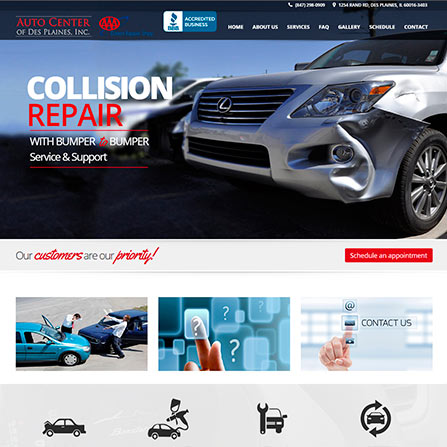 Auto Center of des plaines Website