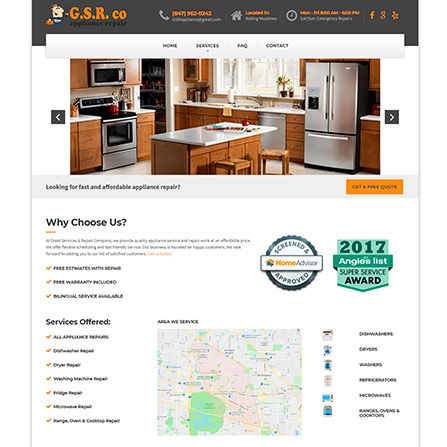 GSR Appliance Repair Website