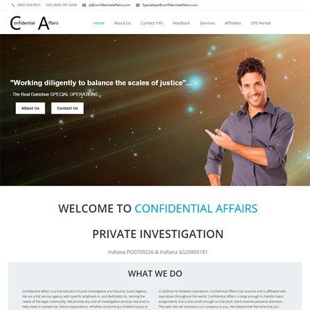 Confidential Affairs Website
