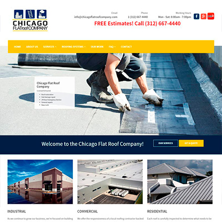 Chicago Flat Roof Company Website