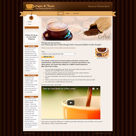 Coffee & Treats Website
