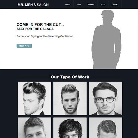 Mr. Men's Salon Website