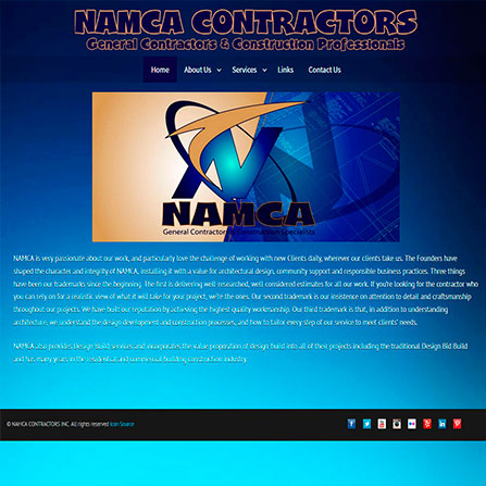 Namca Contractors Website